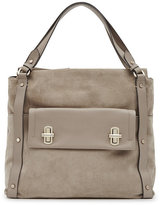 Reiss Lexie Turnlock-Detail Shoulder Bag