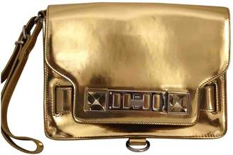 Proenza Schouler PS11 Gold Patent leather Clutch bags
