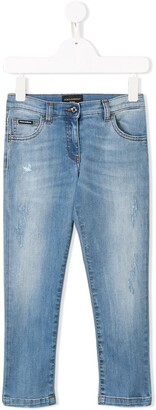 Dolce & Gabbana Kids Stonewashed Slim Fit Jeans