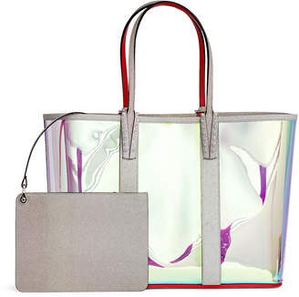 Christian Louboutin Cabata holographic vinyl and glitter tote