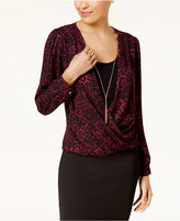 Thalia Sodi Layered-Look Necklace Top, Created for Macy's
