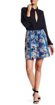 Sachin + Babi Front Zip Print Skirt