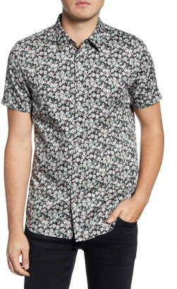 John Varvatos Doug Floral Short Sleeve Button-Up Shirt