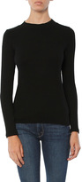 Monrow Mock Neck Rib Sweatshirt