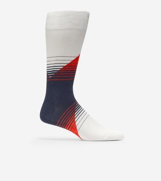 Cole Haan Diagonal Color Block Crew Socks