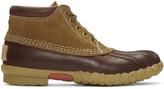 Visvim Brown Decoy Duck Mid-folk Boots