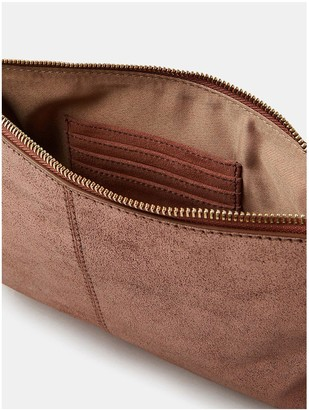 Accessorize Carmela Leather Crossbody Bag - Pink
