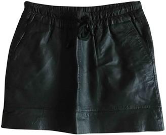 MANGO Black Leather Skirt for Women