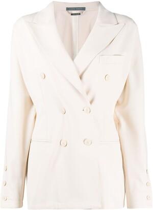Alberta Ferretti Double Breasted Long Sleeve Blazer