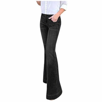 Canifon Trousers Women Hight Waisted Flared Wide Leg Jeans Denim Slim Trousers Full Length Stretch Jeans