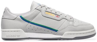 adidas grey Continental 80 leather low-top sneakers