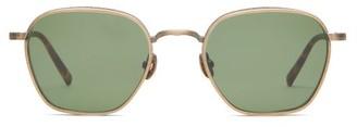 Matsuda Hexagonal Gold-plated Titanium Sunglasses - Green
