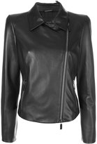 Giorgio Armani biker jacket - women - Silk/Lamb Skin - 40