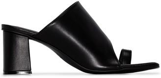 Osoi Square-Toe Toe-Strap Mules