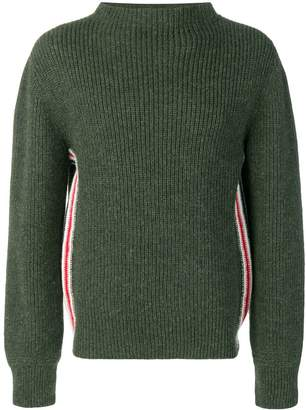Thom Browne Relaxed Rwb Stripe Boat Neck Pullover