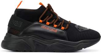 Roberto Cavalli logo strap low-top sneakers