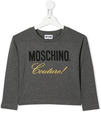MOSCHINO BAMBINO contrast logo T-shirt