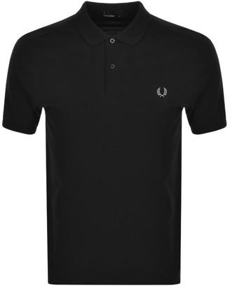 Fred Perry Plain Polo T Shirt Black