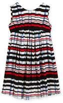 Helena Stripe Pleat-Print Knit Dress, Size 7-14