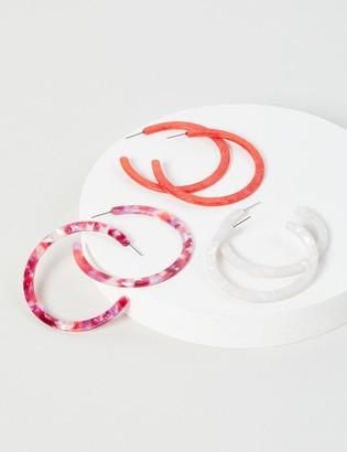 Lane Bryant Resin Hoop Earrings - 3-Pack