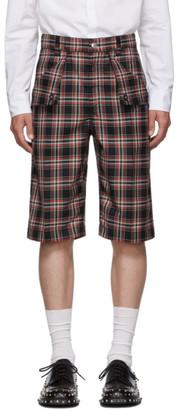 Burberry Navy Bermuda Flaps Shorts