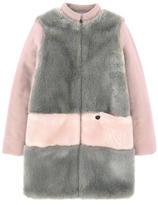 Lanvin False fur and wool coat
