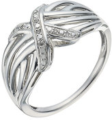 Kiss Collection Silver And Diamond Ring