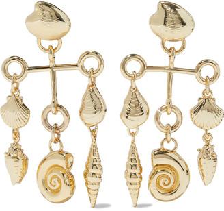 Noir Coast To Coast 14-karat Gold-plated Earrings
