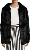 Adrienne Landau Women's Rabbit Fur Jacket