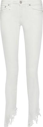 R 13 Kate Distressed Low-rise Skinny-leg Jeans