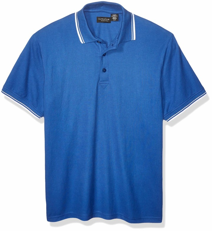UltraClubs Mens Ultc-8545-short-sleeve Piqu/é Polo with Rib-Knit Collar