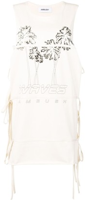 Ambush sleeveless tie T-shirt