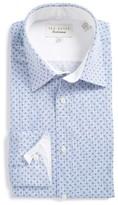 Ted Baker Men's Endurance Timeless Trim Fit Print Dress Shirt
