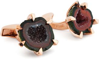 Tateossian Geode Rose Golden Cuff Links