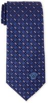 Versace Navy Patterned Silk Tie