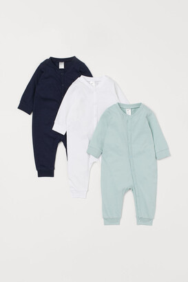 H&M 3-pack Cotton Jumpsuits - Blue