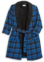 Original Penguin Sherpa Lined Flannel Robe