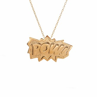 Edge Only POW Pendant Extra Large in Gold