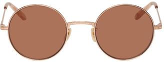 Garrett Leight Rose Gold Seville Sunglasses