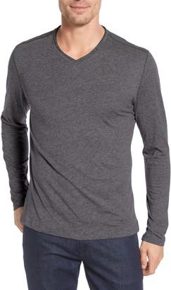 Robert Barakett Farlow Regular Fit V-Neck Long Sleeve T-Shirt
