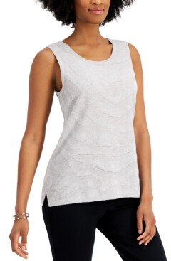 Kasper Textured Sleeveless Top
