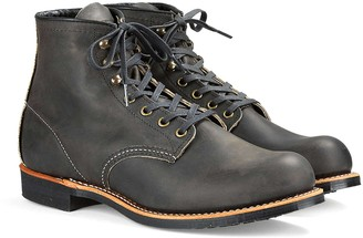 Red Wing Shoes Blacksmith Boot in Rough & Tough Leather in Charcoal