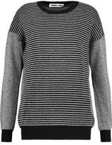 McQ Ribbed-Paneled Metallic Knitted Sweater