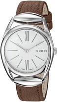Gucci Women's YA140401 Analog Display Swiss Quartz Brown Watch