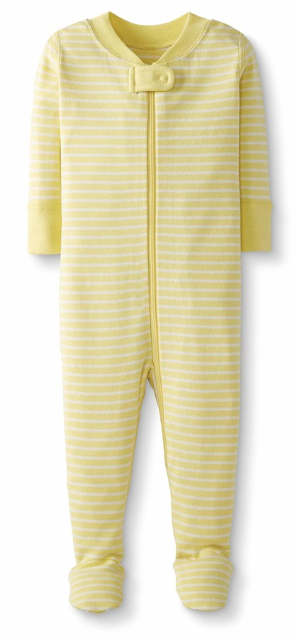 Organic Cotton One Piece Footless Pajamas Moon and Back by Hanna Andersson 2 Years Penguin Print