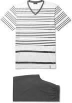 Hanro - Striped Mercerised Cotton-jersey Pyjama Set