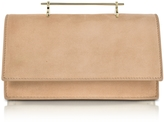M2Malletier Alexia Sand Suede Shoulder Bag