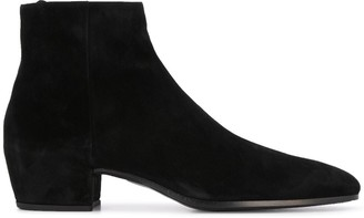 Saint Laurent Square-Toe Ankle Boots