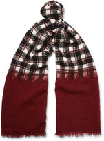 Incotex - Checked Wool-blend Scarf