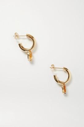 Loren Stewart Fantasia Gold Citrine Hoop Earrings